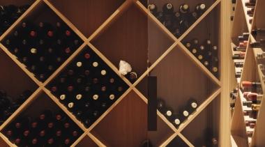 Remuera House - Remuera House - furniture | furniture, wine cellar, wine rack, winery, red, brown, orange