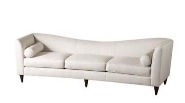 """Upholstery helps set the foundation for how a angle, couch, furniture, loveseat, outdoor sofa, product design, white"