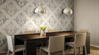 Aurora Range - Aurora Range - ceiling | ceiling, chair, dining room, floor, flooring, furniture, interior design, room, table, wall, wallpaper, gray