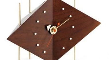 The perfect accessory for the desk with the angle, clock, plywood, product design, table, wood, white, red