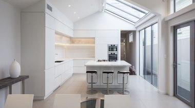 Bonham Interior, AucklandSee the full storyThis kitchen architecture, daylighting, floor, house, interior design, kitchen, real estate, gray, white