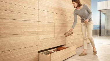 134 One topic. Three applications. Four motion technologies.Infinite drawer, floor, flooring, furniture, hardwood, laminate flooring, plywood, product design, wood, wood flooring, wood stain, orange