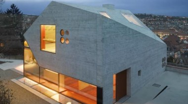Villa H36, Stuttgart, GermanyMBA/S Matthias Bauer Associates architecture, building, facade, home, house, roof, gray