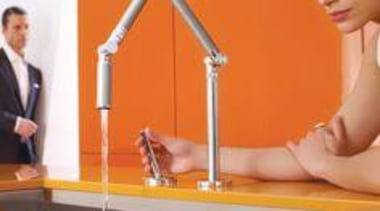 Kohler Karbon Fully Articulating Kitchen Mixer - My furniture, product, product design, table, orange