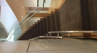 Glasshape - architecture | daylighting | floor | architecture, daylighting, floor, flooring, glass, handrail, interior design, stairs, wood, brown