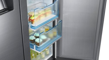 Refrigerator – Side By Side – SRS636SCLS Organize home appliance, kitchen appliance, major appliance, product, product design, refrigerator, gray