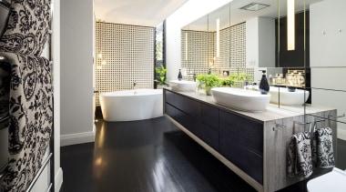 Arc Seven.1, PerthSee the full story bathroom, countertop, floor, flooring, interior design, room, white, black