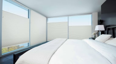 luxaflex duette shades - luxaflex duette shades - architecture, bed frame, bedroom, ceiling, daylighting, estate, home, house, interior design, property, real estate, room, suite, window, white