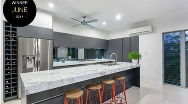 Entrant - Tropical Trend Homes - June. Product countertop, interior design, kitchen, real estate, gray