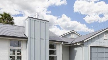Landmark Homes Design & Build - Landmark Homes building, daylighting, elevation, facade, home, house, property, real estate, roof, siding, window, white, gray