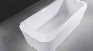 Working with star designer Arik Levy, Kaldewei has bathroom sink, bathtub, hardware, plumbing fixture, product, product design, tap, toilet seat, white, gray