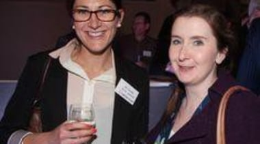 April Goodey and Caroline Garnan (Pacific Environs) drink, event, product, public relations, socialite, black