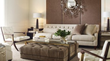 """Upholstery helps set the foundation for how a coffee table, couch, floor, furniture, home, interior design, living room, loveseat, room, sofa bed, table, gray, brown"