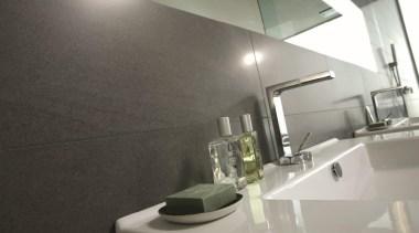 Basaltina wall tiles sink - Natural Stone Range architecture, bathroom, floor, interior design, product design, property, room, sink, tap, gray, black