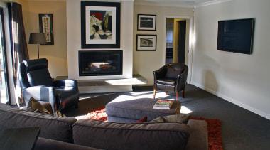 Living area - interior design | living room interior design, living room, property, real estate, room, black, gray