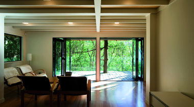 Remuera, Auckland - Glade House - architecture   architecture, ceiling, daylighting, house, interior design, living room, real estate, room, window, wood, brown