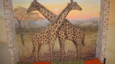Dcocrete 45 - Dcocrete_45 - art | fauna art, fauna, giraffe, giraffidae, painting, terrestrial animal, wildlife, brown