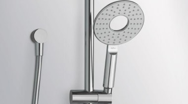 Halo Single Function Slide Shower is suitable for hardware, plumbing fixture, product, tap, gray, white