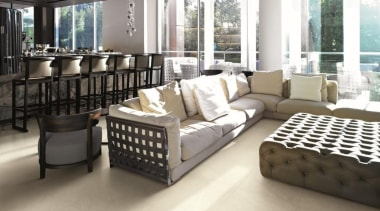Brera Bianca living area floor tiles - Natural floor, flooring, furniture, interior design, living room, property, white