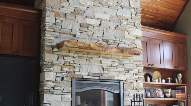 Ledgestone Collection -Need to contact Natural Stone Veneers brick, fireplace, floor, hearth, interior design, living room, real estate, wall, gray