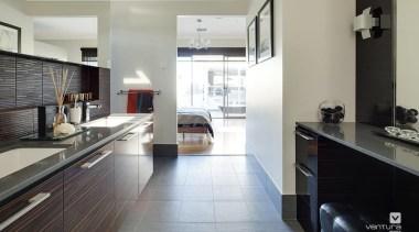 Ensuite design. - The Sentosa Display Home - countertop, cuisine classique, floor, flooring, interior design, kitchen, real estate, room, gray, black