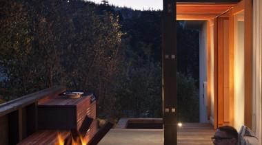 Coromandel, New Zealand - Studio 19 Onemana Bach architecture, evening, home, house, interior design, landscape lighting, lighting, real estate, sky, sunlight, black