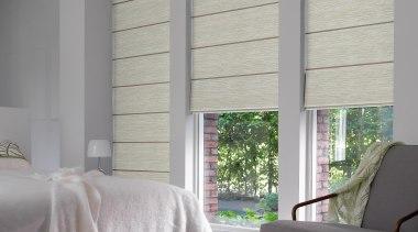 luxaflex roman shades - luxaflex roman shades - bed frame, ceiling, curtain, decor, floor, home, interior design, shade, textile, window, window blind, window covering, window treatment, wood, gray