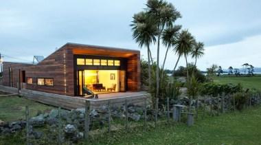 evening shot - evening shot - cottage | cottage, home, house, real estate, shed, teal