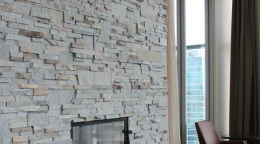 Ledgestone Collection -Need to contact Natural Stone Veneers brick, ceiling, fireplace, floor, flooring, hearth, interior design, living room, room, wall, gray