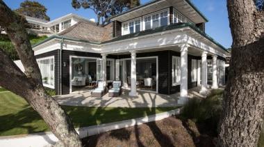 Exterior - building | cottage | estate | building, cottage, estate, facade, farmhouse, historic house, home, house, mansion, property, real estate, villa, window, gray, black