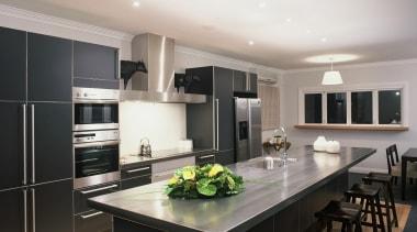 Woburn Kitchen - Woburn Kitchen - cabinetry   cabinetry, countertop, cuisine classique, interior design, kitchen, gray, black