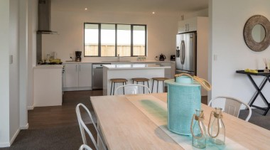 Christchurch Showhome - Christchurch Showhome - countertop | countertop, floor, flooring, hardwood, home, interior design, kitchen, laminate flooring, property, real estate, room, wood flooring, gray