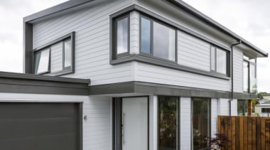 Simpler. Faster. Proven Weathertight. - A-lign Concealed Fix building, elevation, facade, home, house, property, real estate, residential area, siding, window, white, gray, black
