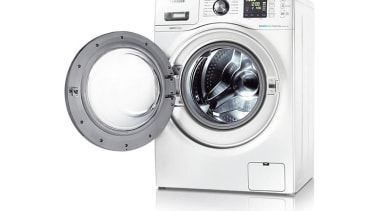 Laundry-Washer Dryer WD856UHSAWith the Quick Wash feature, you clothes dryer, hardware, home appliance, laundry, major appliance, product, product design, washing machine, white