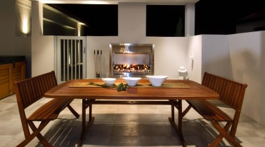 pauanui  fireplace 3 - pauanui__fireplace_3 - dining dining room, flooring, furniture, interior design, room, table, brown