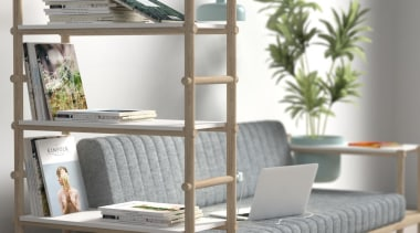 Versatility is the key to being at the bookcase, furniture, product, product design, shelf, shelving, window, gray, white