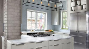 Loosing words to describe this perfection!! Tiles, Steel, cabinetry, countertop, cuisine classique, interior design, kitchen, gray