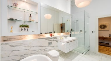 Winner Bathoom of the Year 2013 South Australia bathroom, countertop, estate, floor, home, interior design, kitchen, property, real estate, room, sink, white, gray