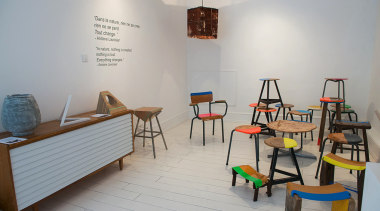 Our favourites from London Design Festival 2014 - chair, classroom, furniture, interior design, product design, room, table, gray
