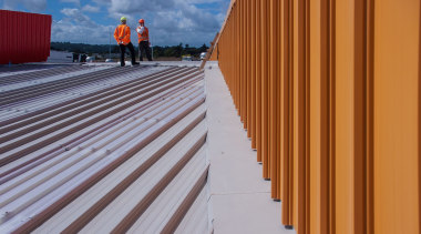 Dimond-Hobsonville Primary 20 - Dimond - Hobsonville Primary daylighting, floor, line, roof, sky, wall, wood, wood stain, gray