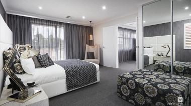 Master ensuite design. - The Monterosso Two Storey bedroom, interior design, property, real estate, room, window, gray, black