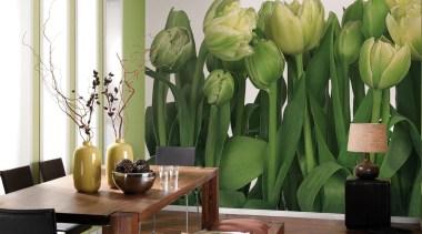 Tulips Interieur - Italian Color Range - decor decor, floral design, floristry, flower, flower arranging, flowering plant, home, interior design, plant, wallpaper, window, yellow, green, white