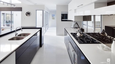 Kitchen design. - The Haven Display Home - countertop, cuisine classique, interior design, kitchen, real estate, room, white, gray
