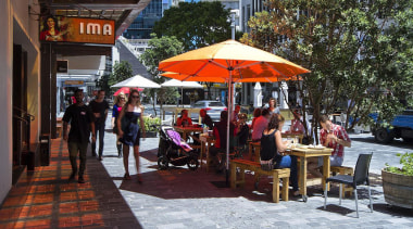 NOMINEEFort Street Area Upgrade (1 of 4) - city, market, marketplace, public space, street, town, black, gray