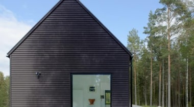 Villa Wallin, Stockholm, SwedenErik Andersson Architects architecture, building, facade, home, house, real estate, shed, siding, black, gray