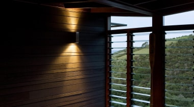 Waiheke Island, Auckland - Owhanake Bay - architecture architecture, daylighting, home, house, interior design, lighting, reflection, sunlight, swimming pool, water, window, wood, black