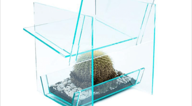 Industrial designer Vedat Ulgen, of New York company glass, product, product design, table, white