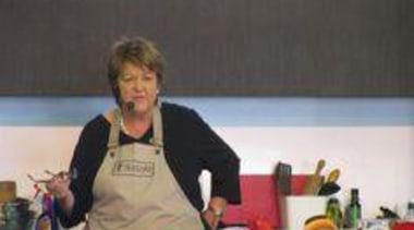 at Ellerslie International Flower Show - Jo Seager cook, cooking, cuisine, food, profession, professional, service, black