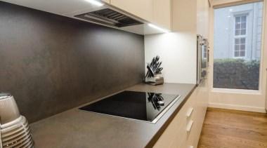 Pepper Design - Poggenpohl kitchen with Matt Lacquer countertop, floor, flooring, hardwood, interior design, kitchen, laminate flooring, real estate, wood, wood flooring, gray