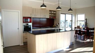 Modern melamine kitchen design, Millwater 2014 - Modern cabinetry, countertop, cuisine classique, interior design, kitchen, property, real estate, room, white, gray